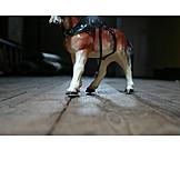 Horse, Toy, Bottom
