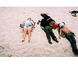 Teenager, Beach, Relax