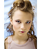 Beauty & cosmetics, Young woman, Romantic, Make up, Glamour