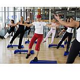 Woman, Group, Gymnastics