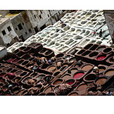 Leather, Morocco, Tannery, Fez