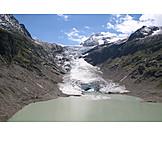 Mountain range, Glacier, Bernese oberland