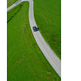 Car, Street, Curve, Road