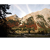 Mountain range, Autumn, Mixed forest
