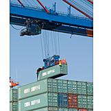Logistics, Deal, Cargo container, Freight transportation, Import, Export, Crane