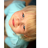Topview, Boy, Child, Portrait