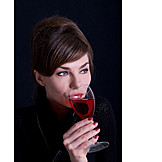 Woman, Indulgence & Consumption, Drinking, Red Wine