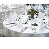 Table, Table decoration, Banquet