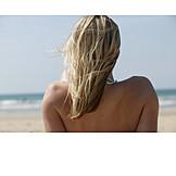 Blonde hair, Shoulder, Suns