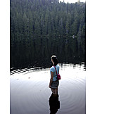 Solitude & loneliness, Relaxation & recreation, Lake, Wading