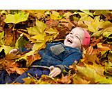 Toddler, Leaves, Sort
