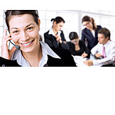 Business woman, Meeting & conversation, On the phone, Headset