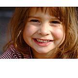 Portrait, Girl, Cheerful