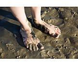 Barefoot, Beach walking, Wadden sea hiking