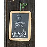 Easter, Easter bunny, Slate