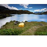 Shore, Mountain lake, Lago moesola