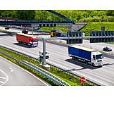 Highway, Truck, Road traffic