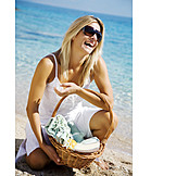 Young Woman, Woman, Summer, Beach Holiday