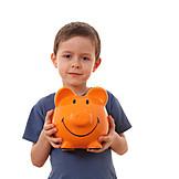 Boy, Save, Piggy bank