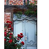 Facade, Wooden door, Timbered