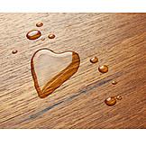 Love, Heart, Waterdrop