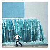 Waterfall, Mural, Opening
