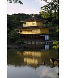 Kyoto city, Kinkaku ji, Golden pavilion temple