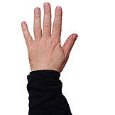 Hand sign, Counting, 5