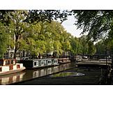 Gracht, Houseboat, Amsterdam