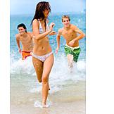 Fun & Happiness, Holiday & Travel, Beach, Bathing