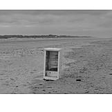 Beach, Pollution, Refrigerator