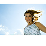 Woman, Fun & happiness, Portrait, Dynamic