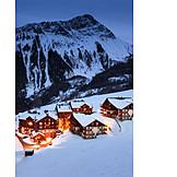 Village, Ski resort, Le corbier