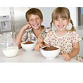 Healthy diet, Breakfast, Cereals, Siblings