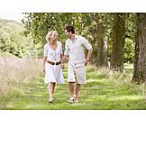 Walk, Love couple, Summer