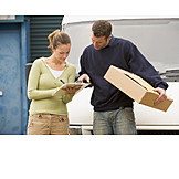 Parcel service, Addressee, Confirmation receipt, Delivery people