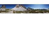 Mountain panorama, Three peaks, Paternkofel