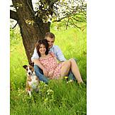 Couple, Dog, Excursion