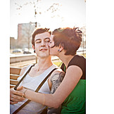 Couple, Kissing, Love couple, Tattoo