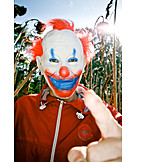 Threaten, Clown, Humor & bizarre, Clowns mask