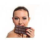 Young Woman, Indulgence & Consumption, Chocolate