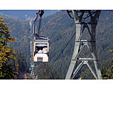 Black forest, Gondola, Cable car, Lookingintocountryground