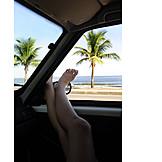 Holiday & travel, Summer vacation, Female legs