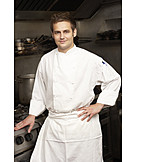 Portrait, Work clothing, Cook