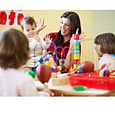 Child, Playing, Childcare, Children Gardener