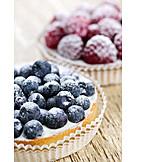 Fruit tart, Blueberry tart
