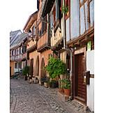 Village, Alley, Eguisheim