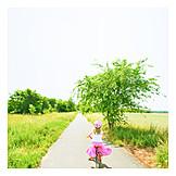 Girl, Cycling, Bicycle tour