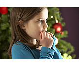 Girl, Christmas, Excited