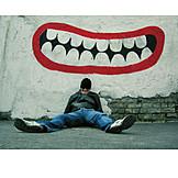 Fun & happiness, Humor & bizarre, Smirking, Grimace